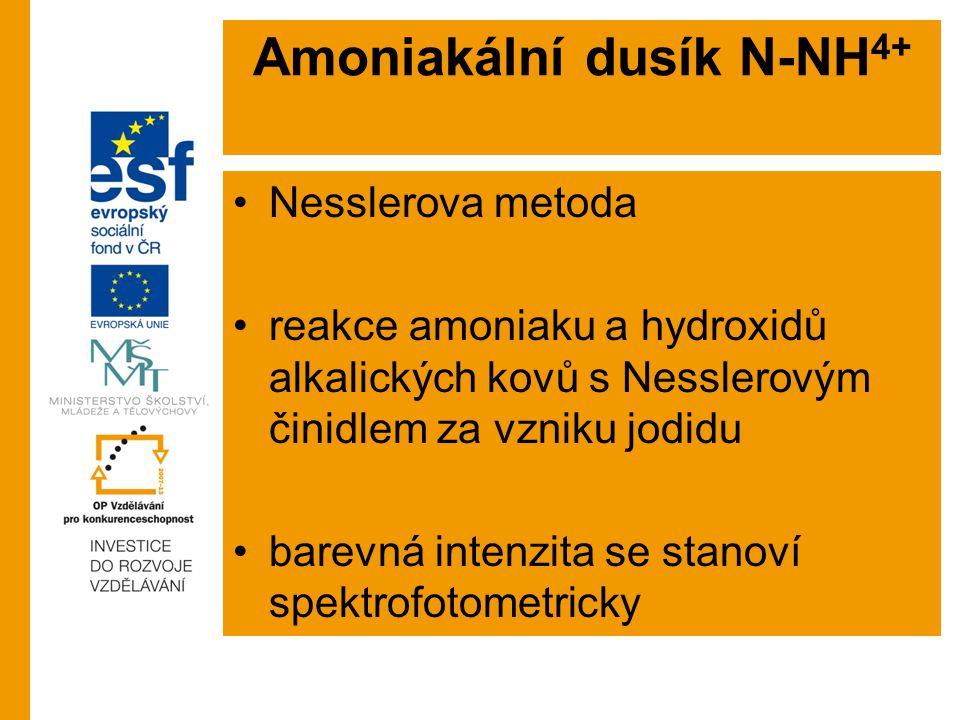 Amoniakální dusík N-NH4+