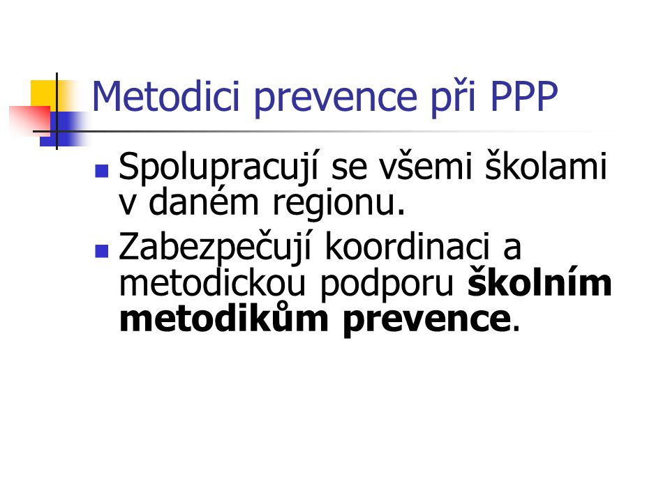 Metodici prevence při PPP