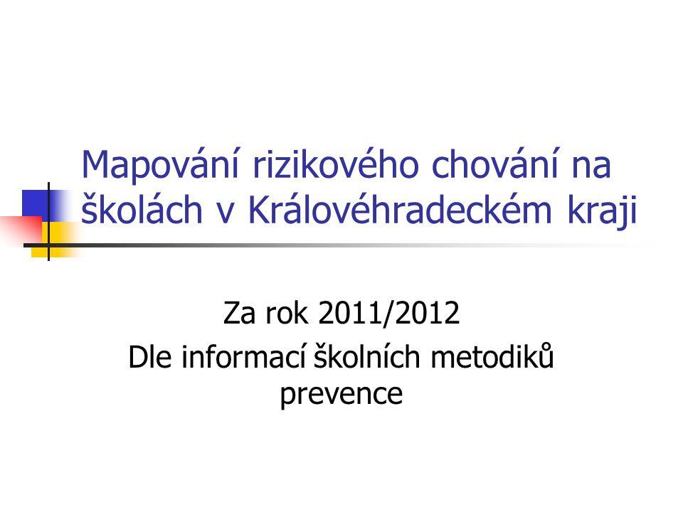 Mapování rizikového chování na školách v Královéhradeckém kraji