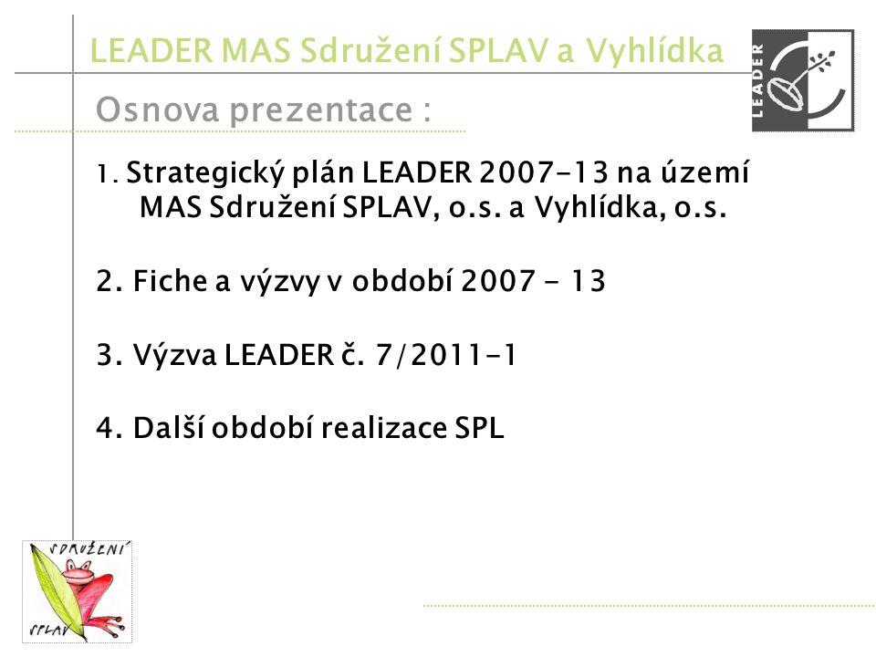 Osnova prezentace : LEADER MAS Sdružení SPLAV a Vyhlídka