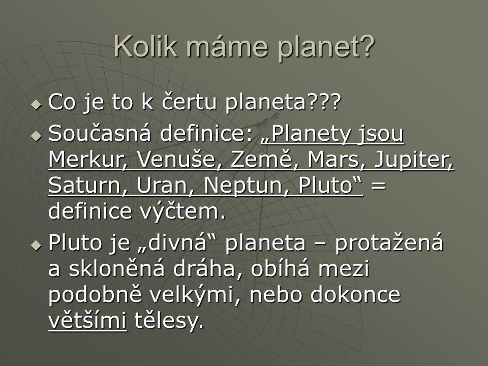 Kolik máme planet Co je to k čertu planeta