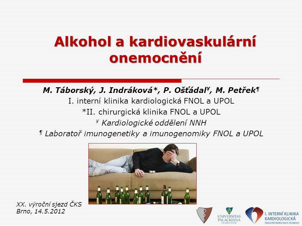 Alkohol a kardiovaskulární onemocnění
