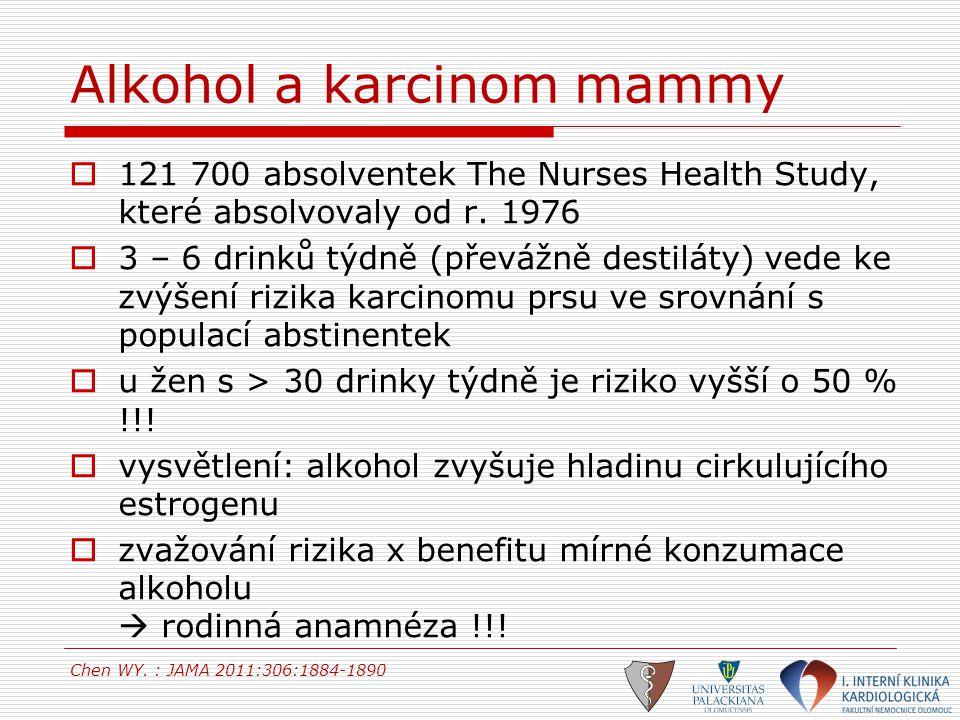 Alkohol a karcinom mammy