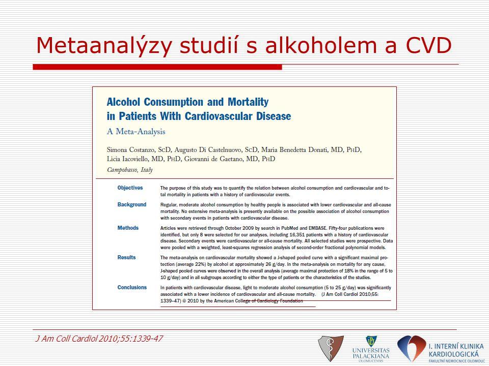 Metaanalýzy studií s alkoholem a CVD