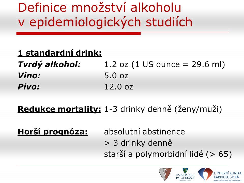 Definice množství alkoholu v epidemiologických studiích