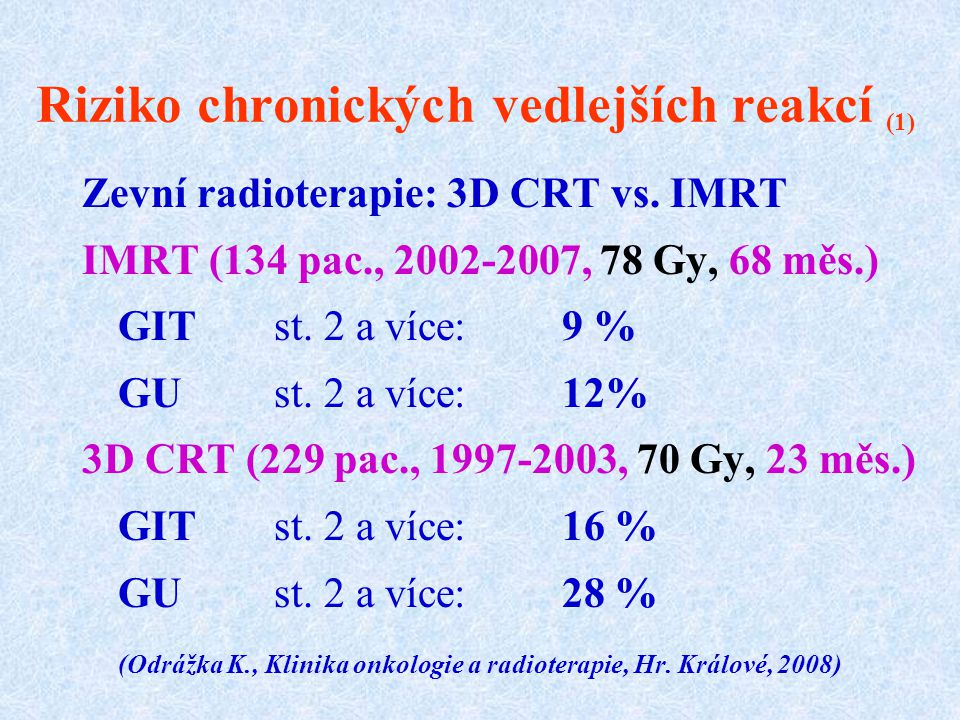 Riziko chronických vedlejších reakcí (1)