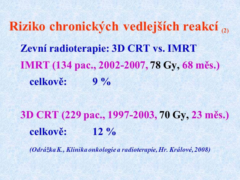Riziko chronických vedlejších reakcí (2)