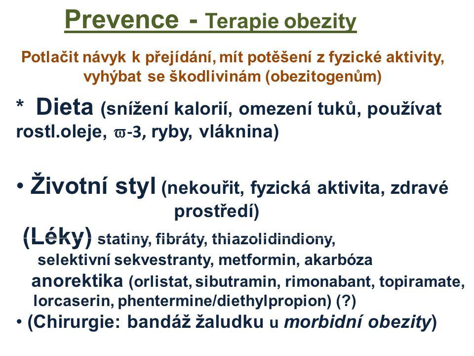 Prevence - Terapie obezity
