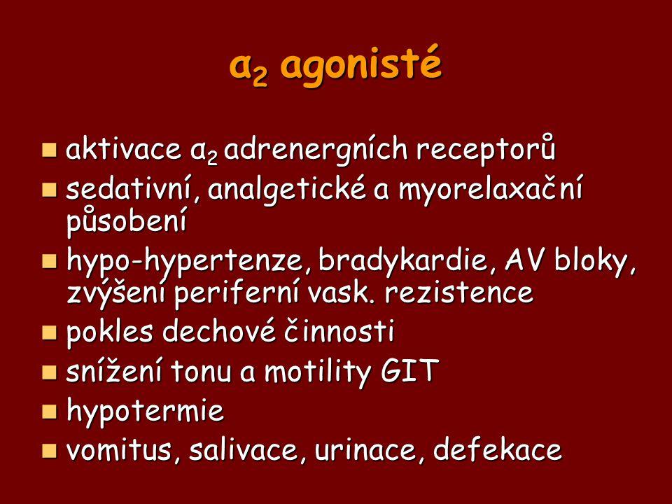 α2 agonisté aktivace α2 adrenergních receptorů
