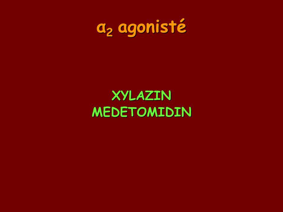 α2 agonisté XYLAZIN MEDETOMIDIN