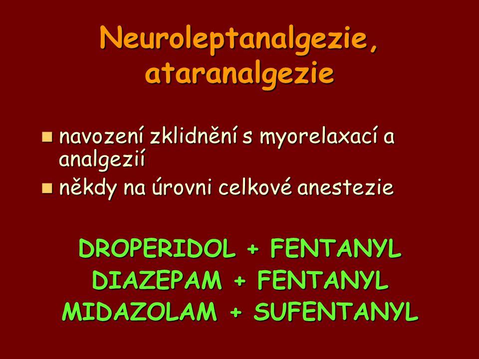 Neuroleptanalgezie, ataranalgezie