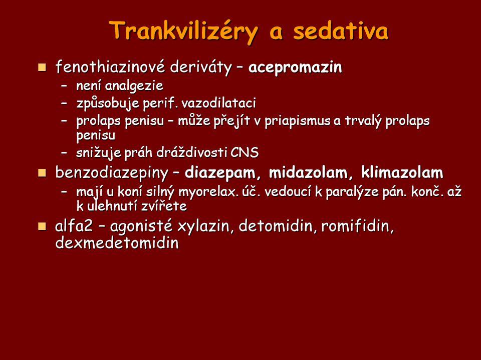 Trankvilizéry a sedativa