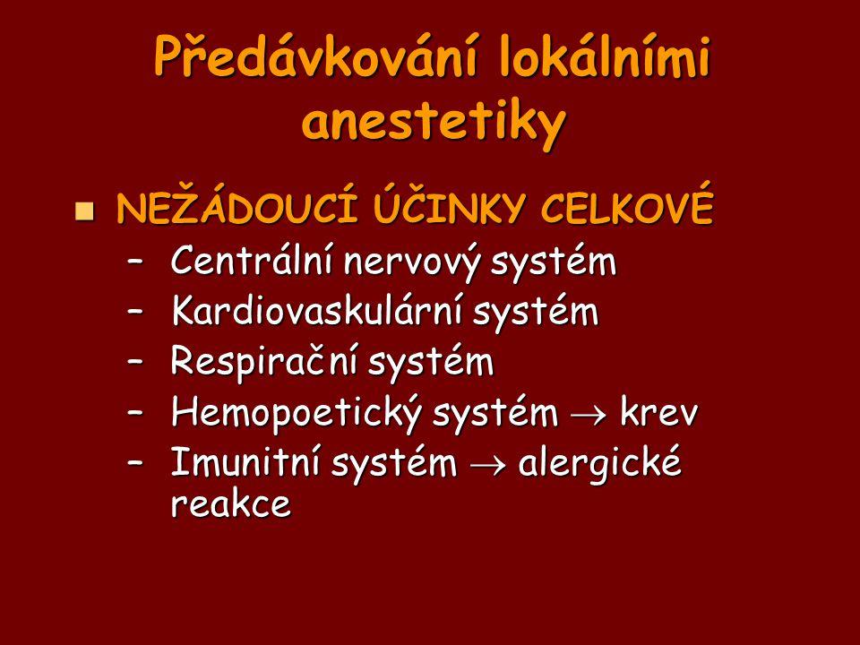 Předávkování lokálními anestetiky