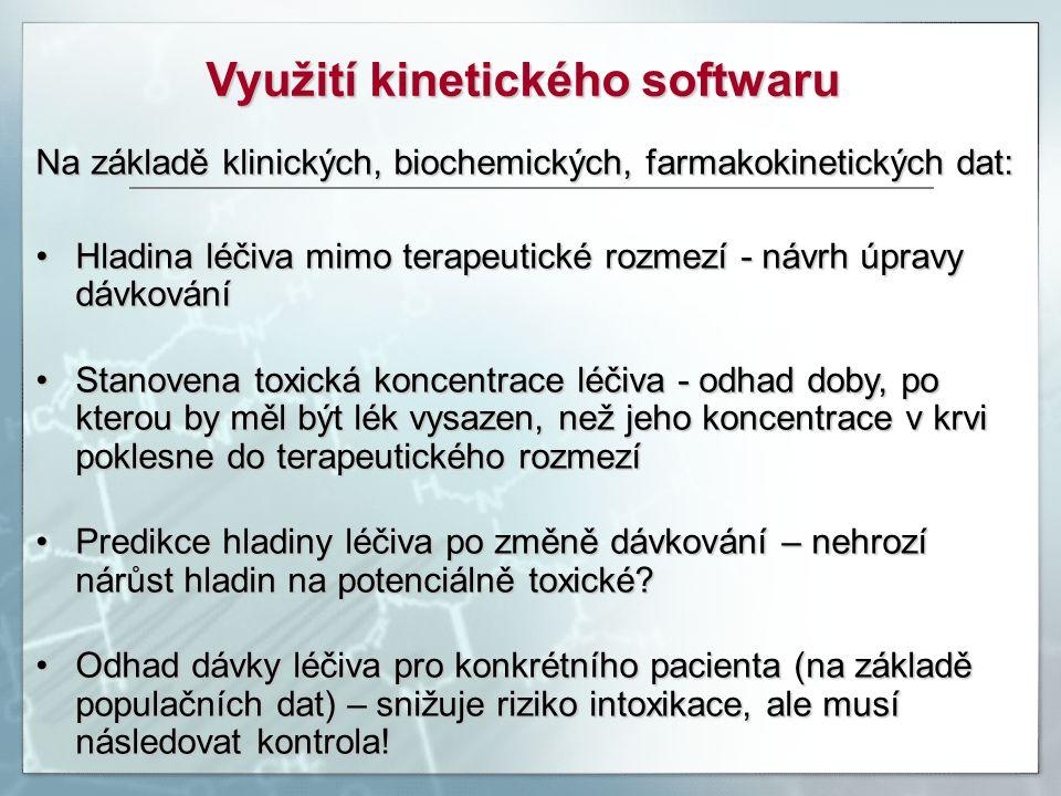 Využití kinetického softwaru