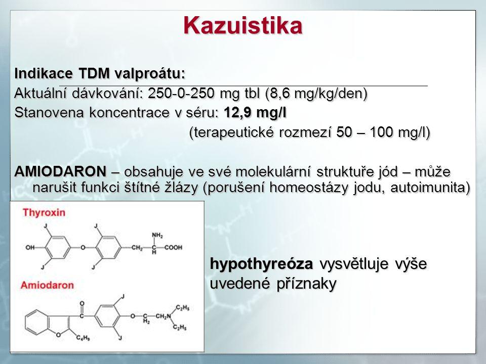Kazuistika hypothyreóza vysvětluje výše uvedené příznaky
