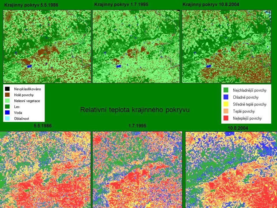 Relativní teplota krajinného pokryvu