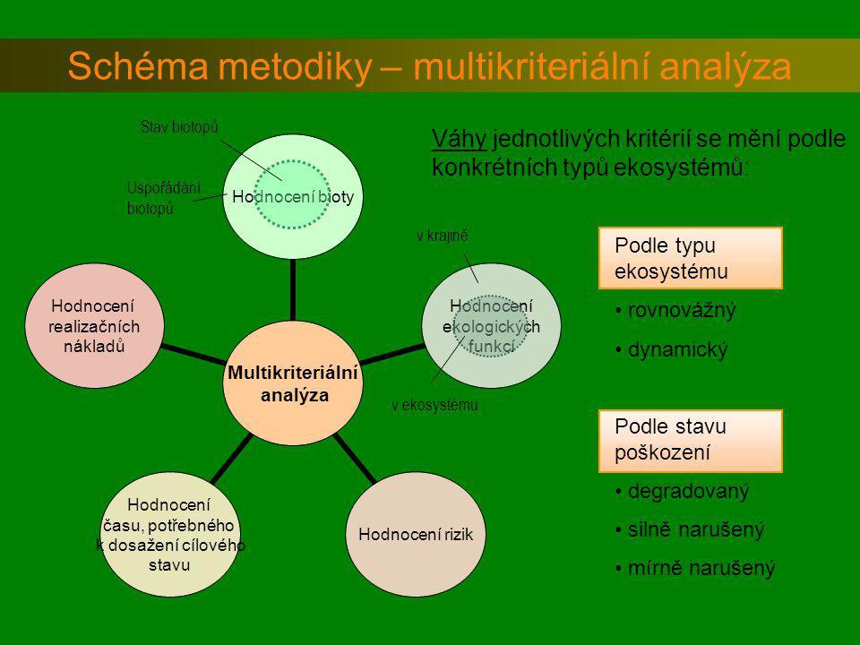 Schéma metodiky – multikriteriální analýza