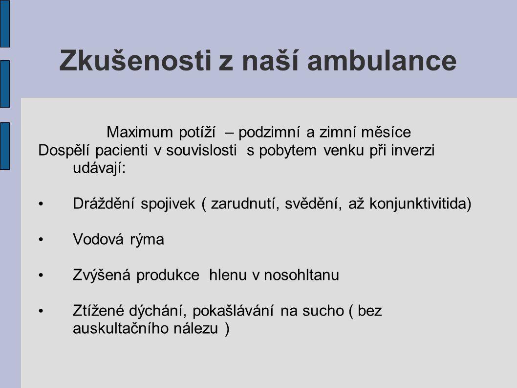 Zkušenosti z naší ambulance