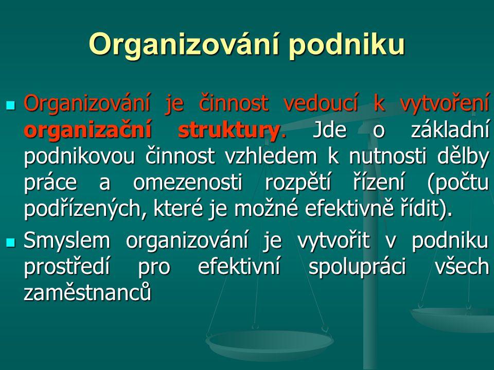 Organizování podniku