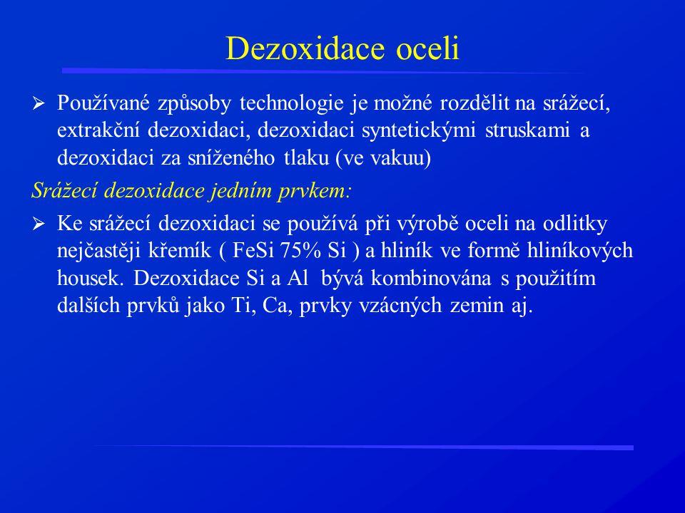 Dezoxidace oceli