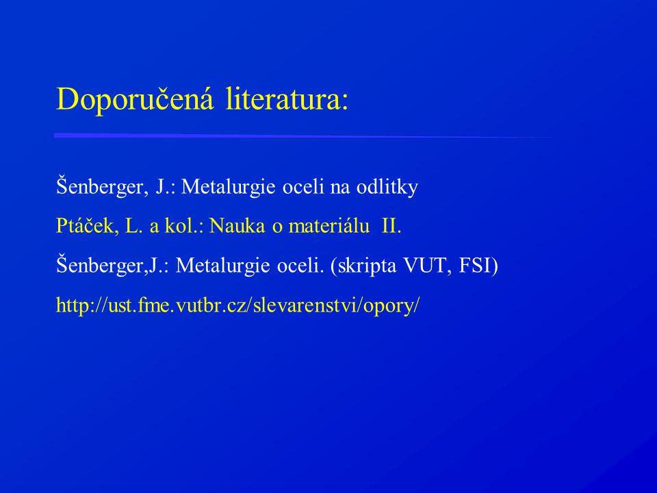 Doporučená literatura: Šenberger, J