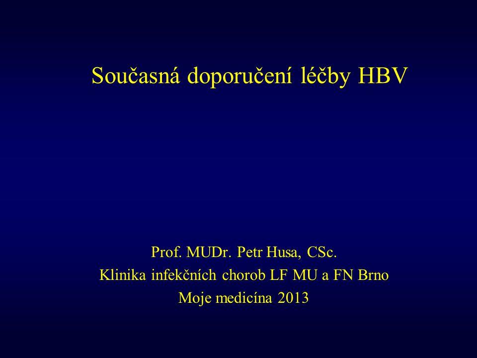 Současná doporučení léčby HBV