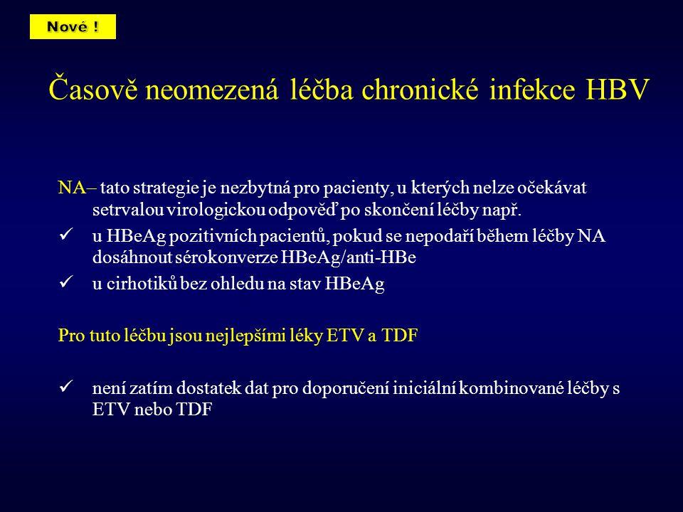 Časově neomezená léčba chronické infekce HBV