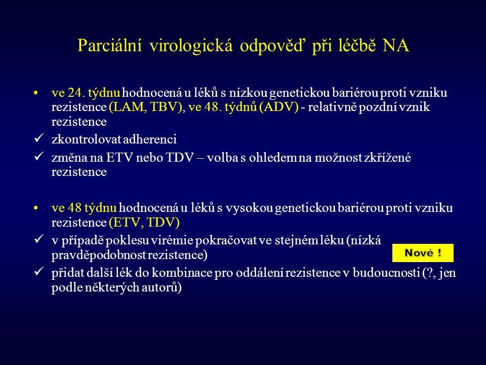 Parciální virologická odpověď při léčbě NA
