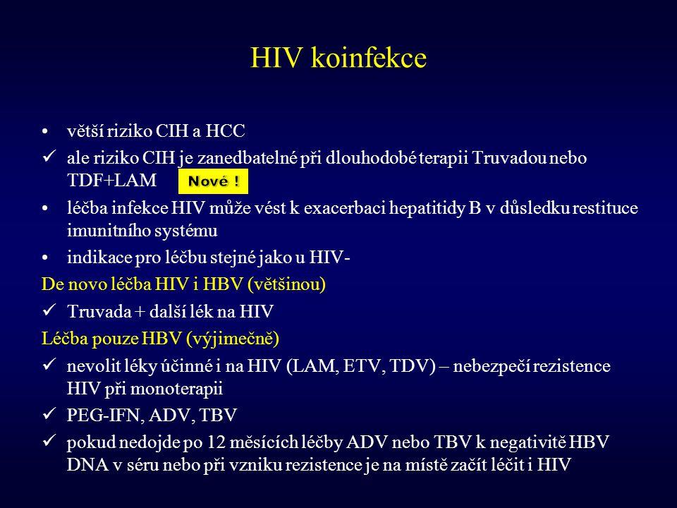 HIV koinfekce větší riziko CIH a HCC