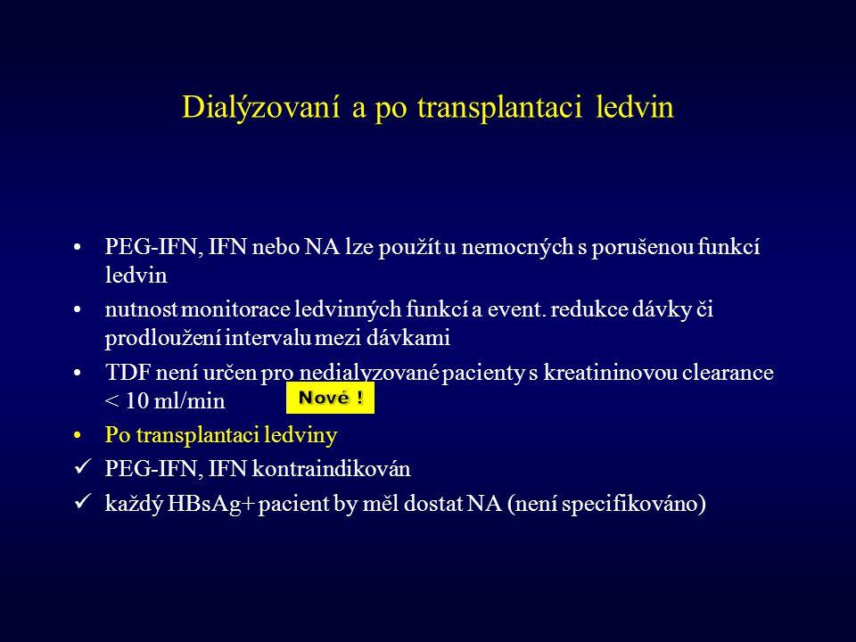 Dialýzovaní a po transplantaci ledvin