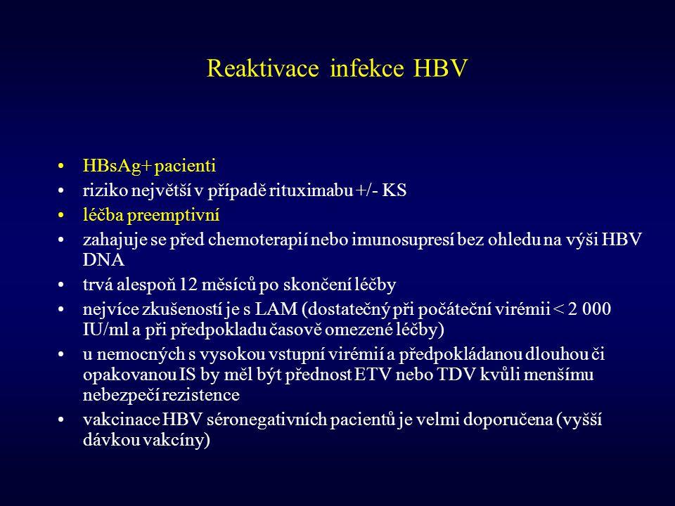 Reaktivace infekce HBV