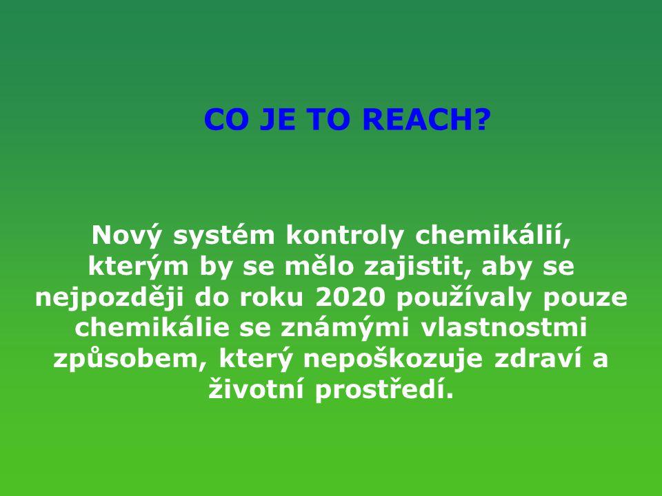 Nový systém kontroly chemikálií,