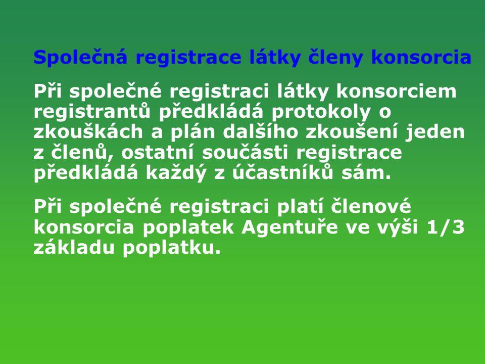 Společná registrace látky členy konsorcia