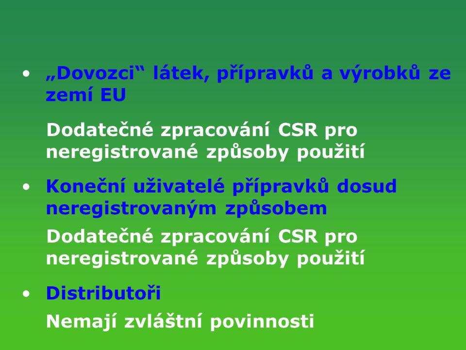 """""""Dovozci látek, přípravků a výrobků ze zemí EU"""