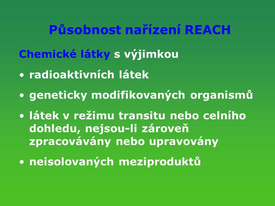 Působnost nařízení REACH