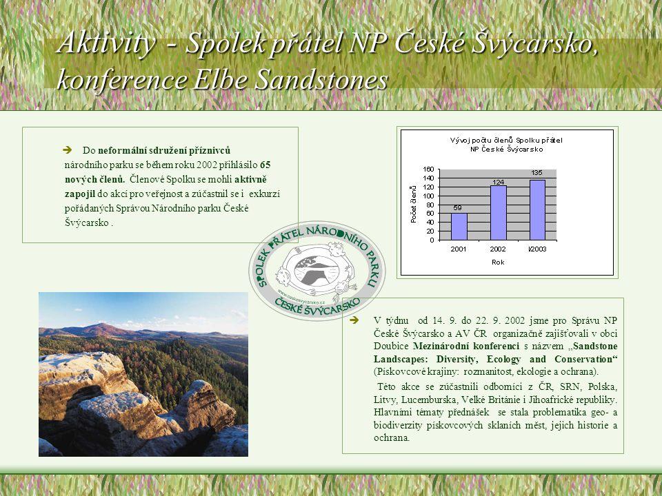 Aktivity - Spolek přátel NP České Švýcarsko, konference Elbe Sandstones