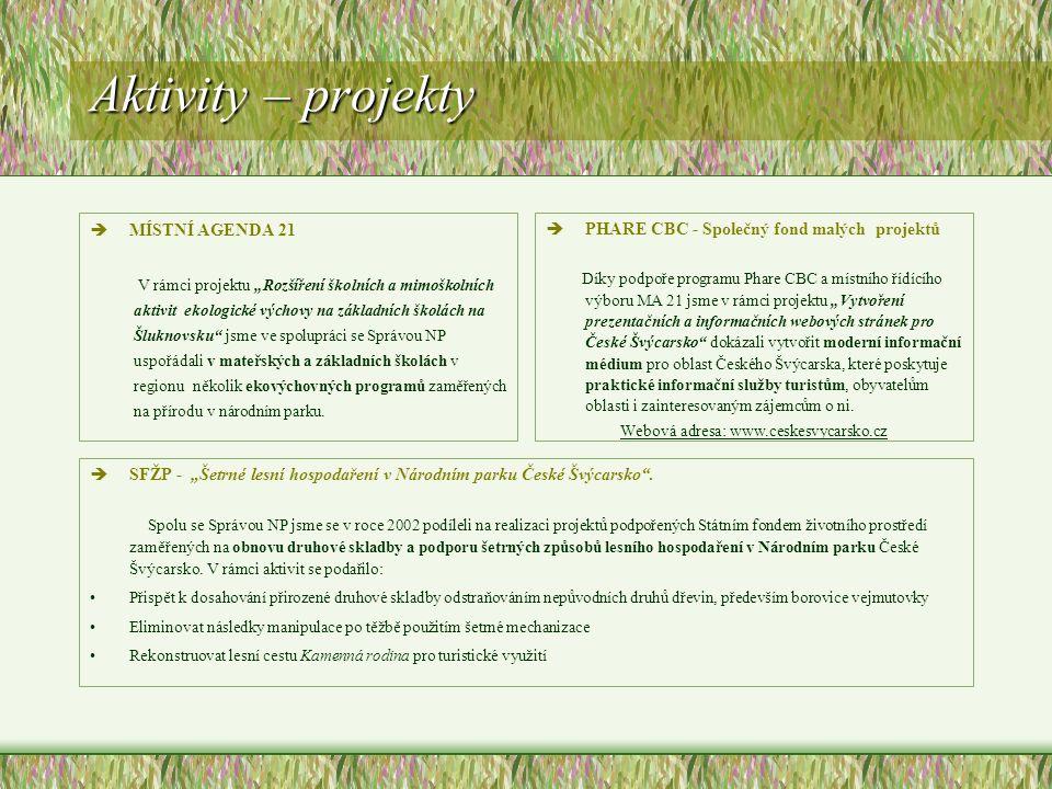 Webová adresa: www.ceskesvycarsko.cz