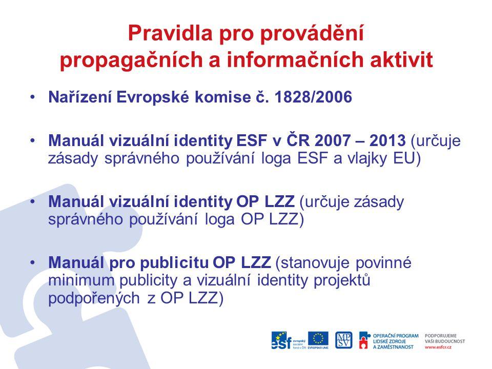 Pravidla pro provádění propagačních a informačních aktivit