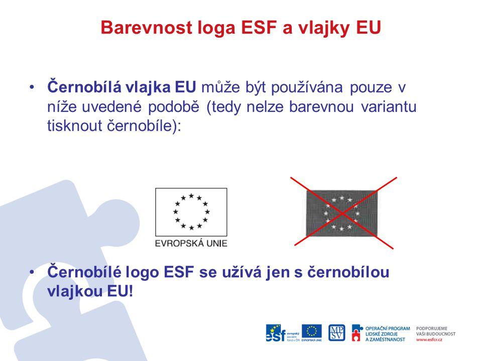 Barevnost loga ESF a vlajky EU