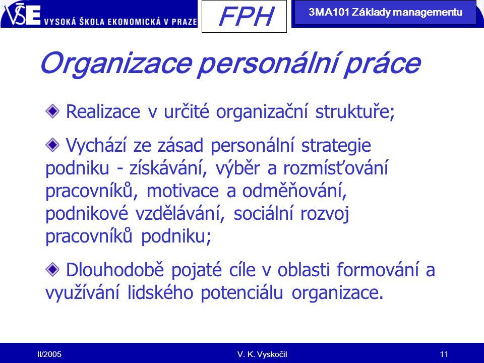Organizace personální práce