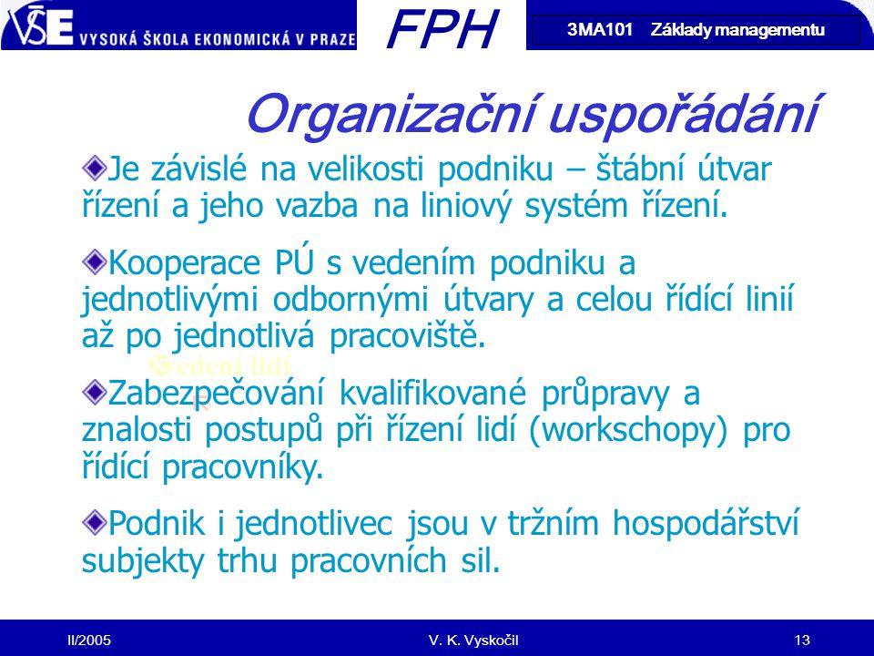 Organizační uspořádání