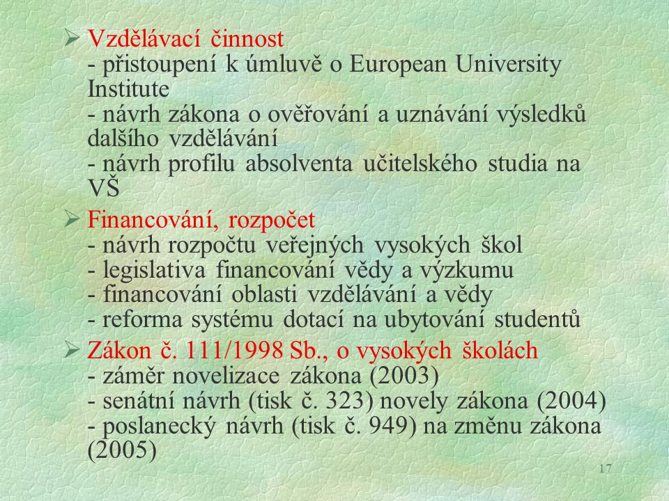 Statut Rady vysokých škol
