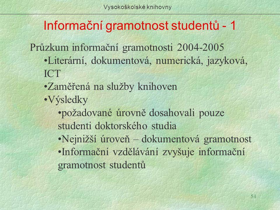 Vysokoškolské knihovny