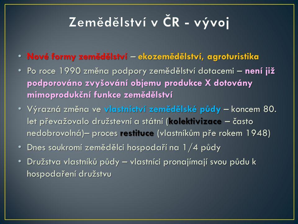 Zemědělství v ČR - vývoj