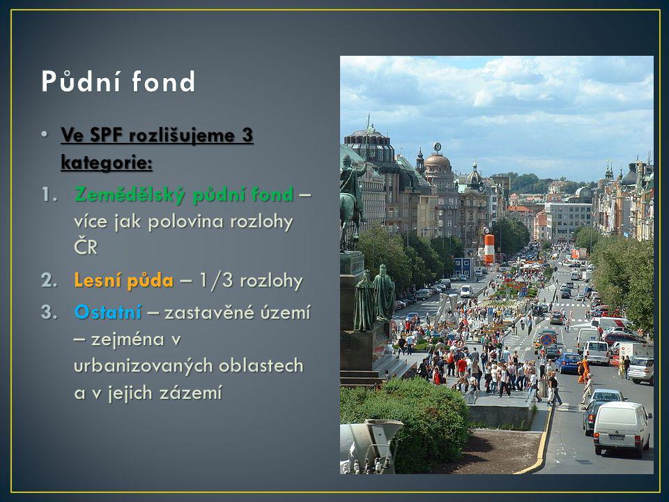 Půdní fond Ve SPF rozlišujeme 3 kategorie: