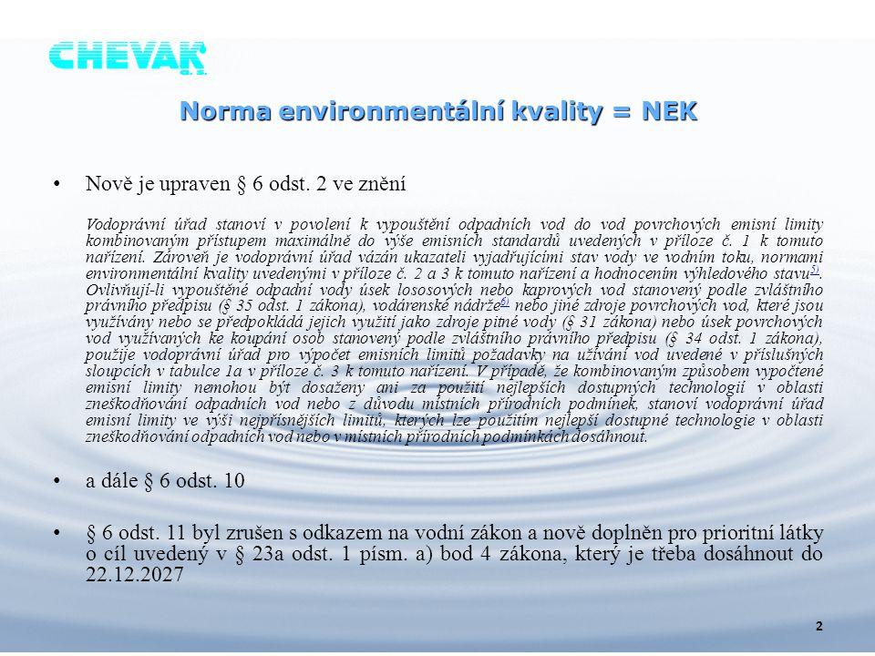 Norma environmentální kvality = NEK