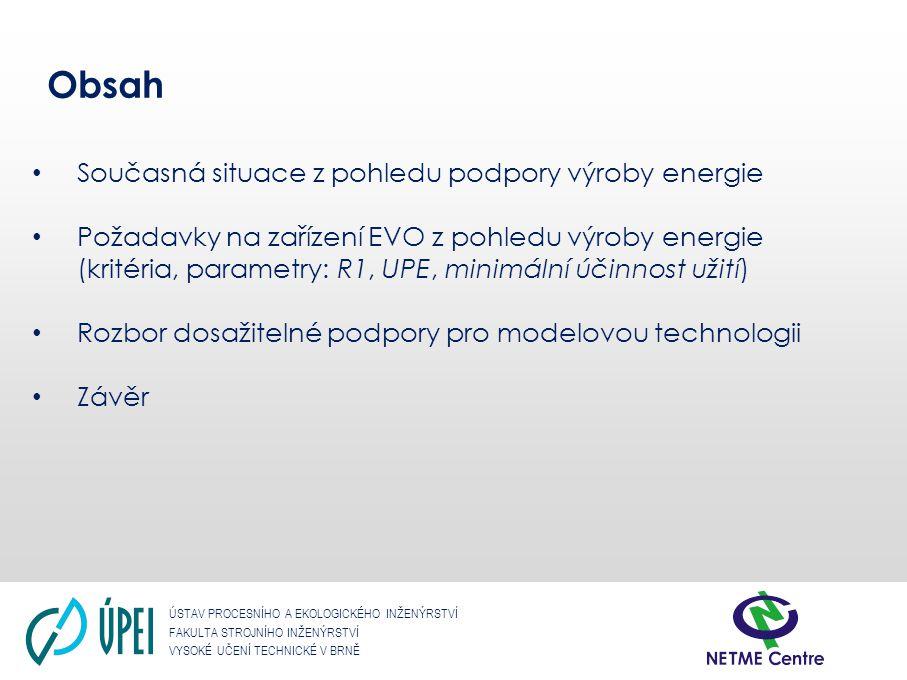 Obsah Současná situace z pohledu podpory výroby energie