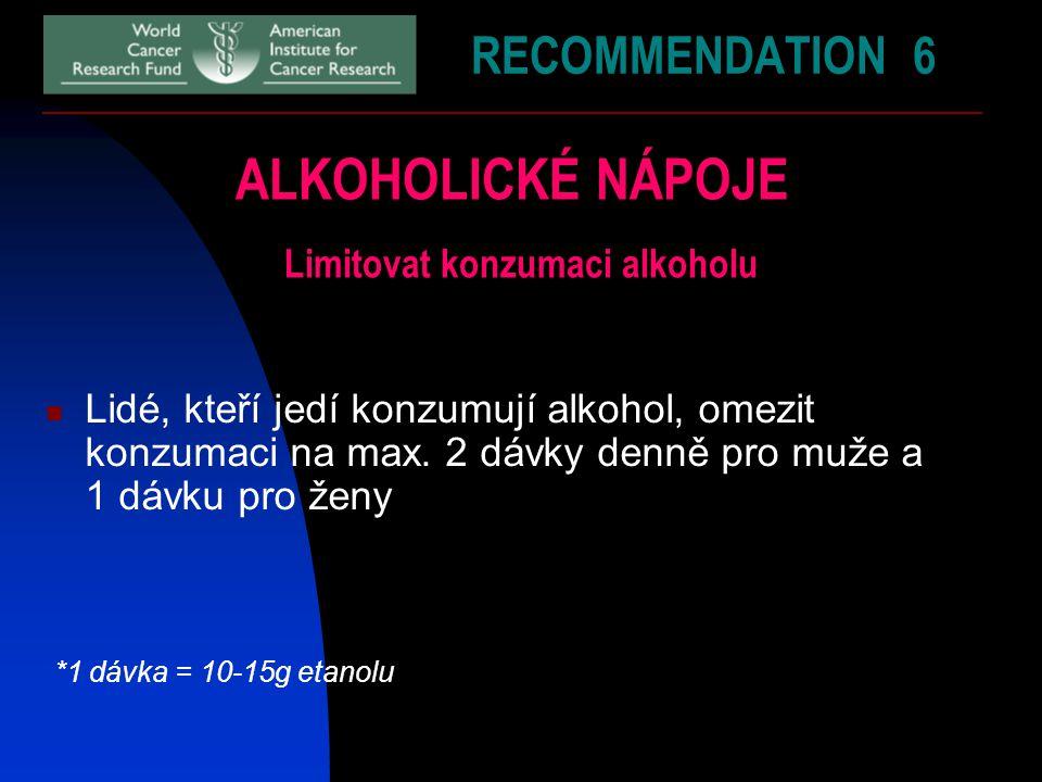 Limitovat konzumaci alkoholu
