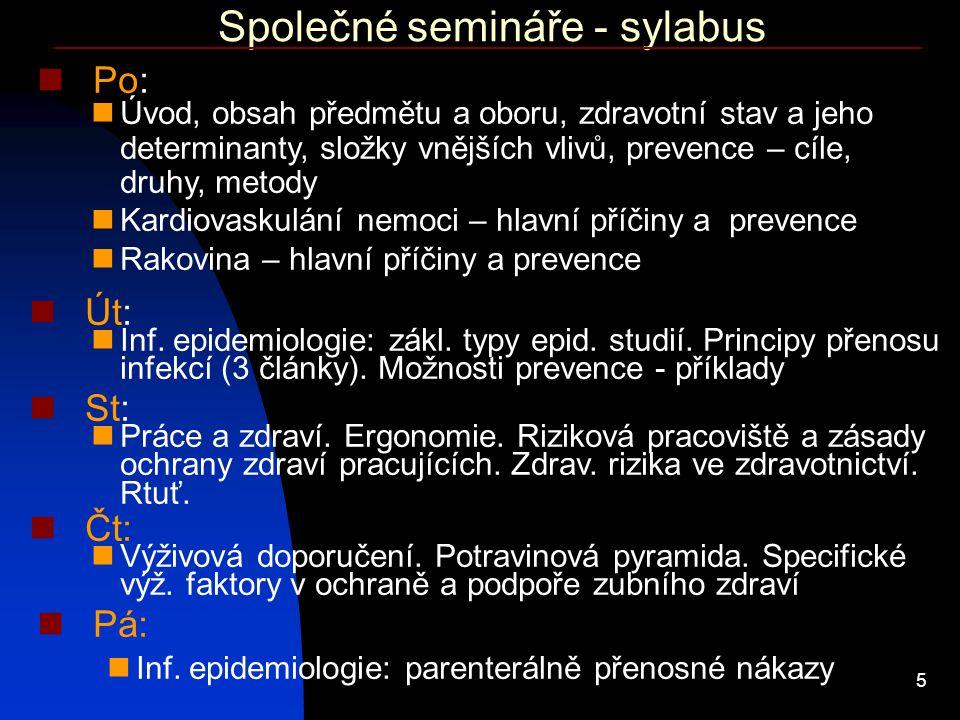 Společné semináře - sylabus
