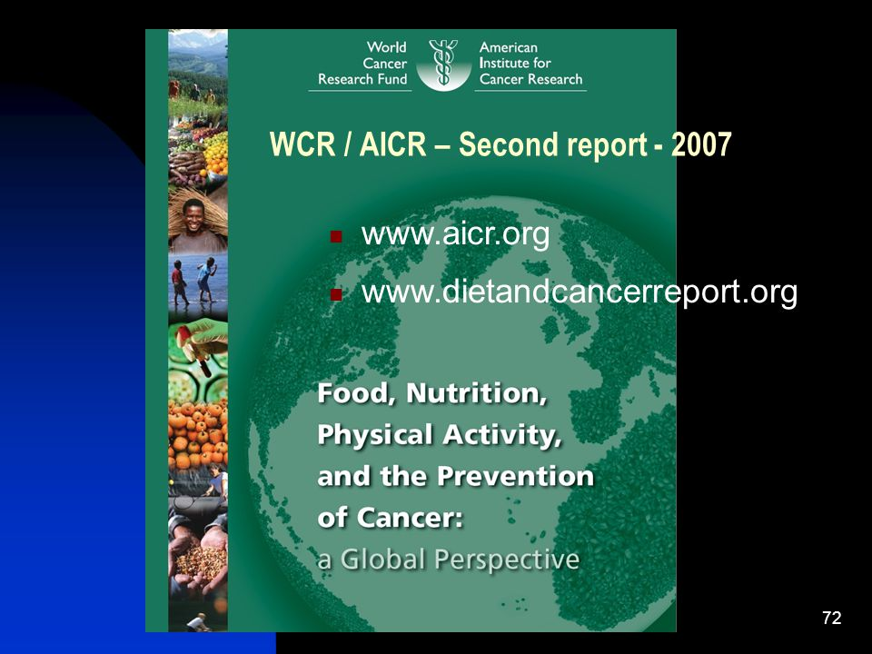WCR / AICR – Second report - 2007